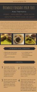 Brownie vegan sans gluten sans farine sans sucre ajoutés au thermomix