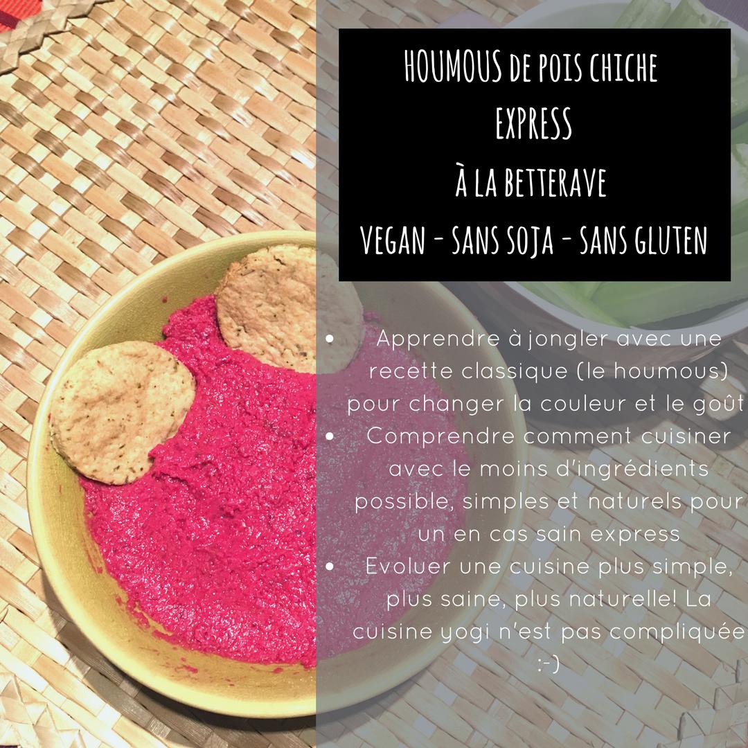 Betterave houmous express vegan sans soja sans gluten
