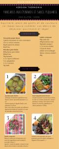 pancakes salés et sauce piquante salade composée thermomix