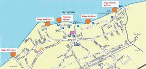 carte-des-plages ante sur léman