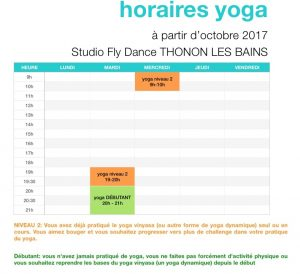 cours collectifs yoga dynamique studio fly dance thonon