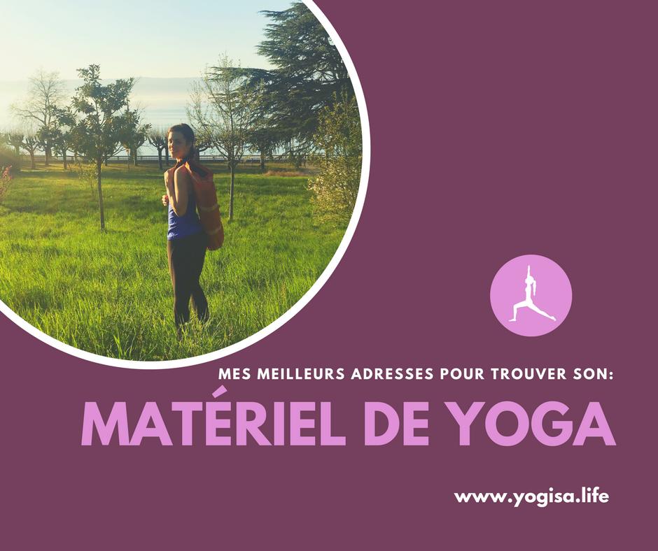 acheter son matériel de yoga