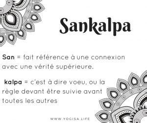 que signifie sankalpa sanskrit français