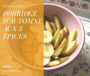 porridge d'automne aux 3 épices