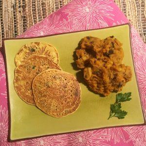 curry vegan et galettes pimentées repas yogique gourmand