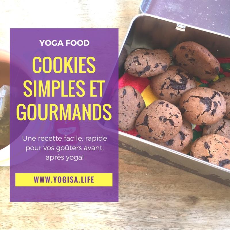 Quel goûter avant le yoga? Recette de cookies super simple