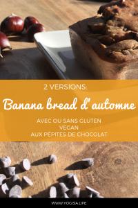 banana bread aux pépites de chocolat vegan sans gluten
