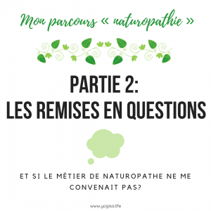 Le métier de naturopathe: Les remises en question