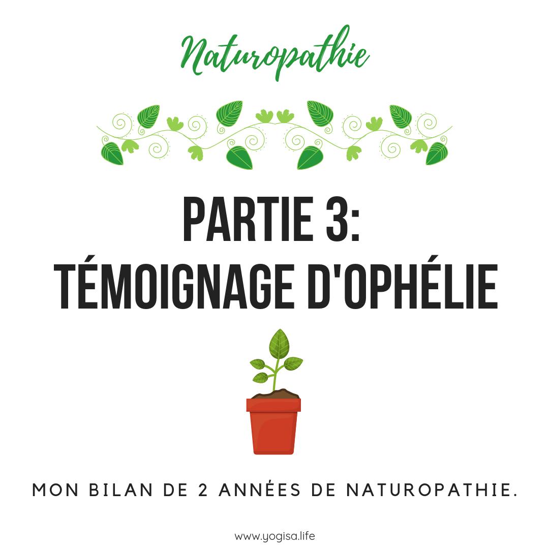 MON BILAN DE 2 ANNÉES DE NATUROPATHIE.